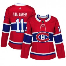 Women's Montreal Canadiens #11 Brendan Gallagher Red Adizero Player Home Jersey