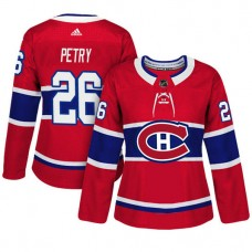 Women's Montreal Canadiens #26 Jeff Petry Red Adizero Player Home Jersey