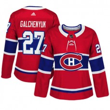 Women's Montreal Canadiens #27 Alex Galchenyuk Red Adizero Player Home Jersey