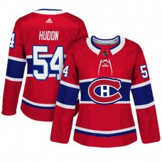 Women's Montreal Canadiens #54 Charles Hudon Red Adizero Player Home Jersey