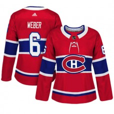 Women's Montreal Canadiens #6 Shea Weber Red Adizero Player Home Jersey