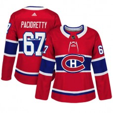 Women's Montreal Canadiens #67 Max Pacioretty Red Adizero Player Home Jersey