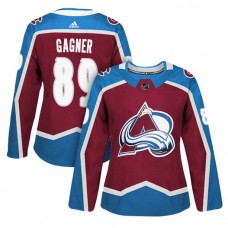 Women's Vancouver Canucks #89 Sam Gagner Maroon Adizero Player Home Jersey