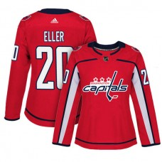 Women's Washington Capitals #20 Lars Eller Red Adizero Player Home Jersey