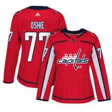 Women's Washington Capitals #77 T.J. Oshie Red Adizero Player Home Jersey