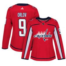 Women's Washington Capitals #9 Dmitry Orlov Red Adizero Player Home Jersey