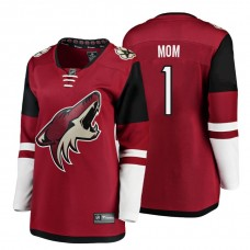 Women's Arizona Coyotes Maroon Mother's Day #1 Mom Jersey