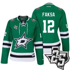 Women's Dallas Stars #12 Radek Faksa Green 1995-2017 25th Anniversary Home Jersey
