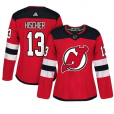 Women's New Jersey Devils #13 Nico Hischier Red Adizero Player Home Jersey