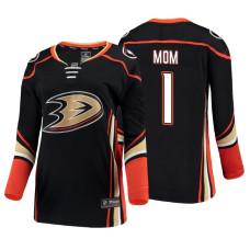 Women's Anaheim Ducks Black Mother's Day #1 Mom Jersey
