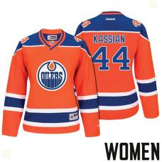 Women's Edmonton Oilers #44 Zack Kassian Orange 2017 Stanley Cup Playoffs Participant Jersey