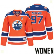 Women's Edmonton Oilers #97 Connor McDavid Orange 2017 Stanley Cup Playoffs Participant Jersey