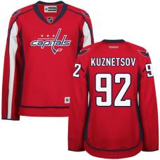 Women's Capitals #92 Evgeny Kuznetsov Red Premier Home Jersey
