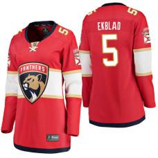 Women's #5 Aaron Ekblad Red Breakaway Player Jersey Florida Panthers