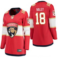 Women's #18 Micheal Haley Red Breakaway Player Jersey Florida Panthers