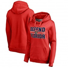 Women's Florida Panthers Red Defend City Hometown Pullover Hoodie