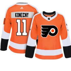 Women's Philadelphia Flyers #11 Travis Konecny Orange Adizero Player Home Jersey