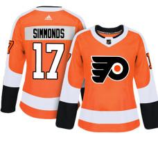 Women's Philadelphia Flyers #17 Wayne Simmonds Orange Adizero Player Home Jersey