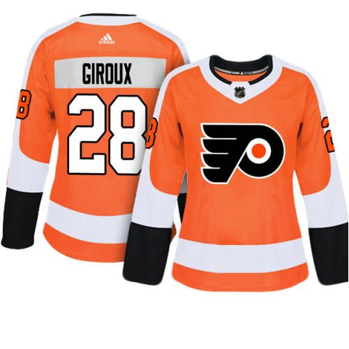 311b7ed53 Women's Philadelphia Flyers #28 Claude Giroux Orange Adizero Player Home  Jersey