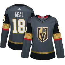 Women's Vegas Golden Knights #18 James Neal Gray Adizero Player Home Jersey