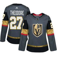 Women's Vegas Golden Knights #27 Shea Theodore Gray Adizero Player Home Jersey