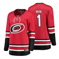 Women's Carolina Hurricanes Red Mother's Day #1 Mom Jersey