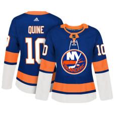 Women's New York Islanders #10 Alan Quine Royal Adizero Player Home Jersey