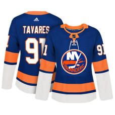 Women's New York Islanders #91 John Tavares Royal Adizero Player Home Jersey