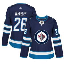 Women's Winnipeg Jets #26 Blake Wheeler Navy Adizero Player Home Jersey