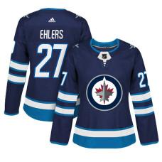 Women's Winnipeg Jets #27 Nikolaj Ehlers Navy Adizero Player Home Jersey