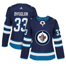 Women's Winnipeg Jets #33 Dustin Byfuglien Navy Adizero Player Home Jersey