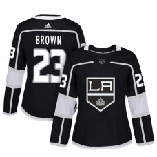 Women's Los Angeles Kings #23 Dustin Brown Black Adizero Player Home Jersey