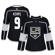 Women's Los Angeles Kings #9 Adrian Kempe Black Adizero Player Home Jersey