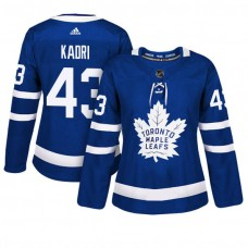 Women's Toronto Maple Leafs #43 Nazem Kadri Blue Adizero Player Home Jersey