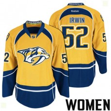 Women's Nashville Predators #52 Matt Irwin Gold 2017 Stanley Cup Playoff Participant Team Home Jersey