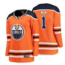 Women's Edmonton Oilers Orange Mother's Day #1 Mom Jersey