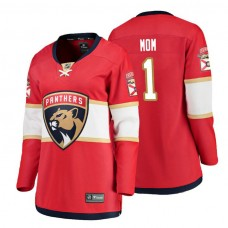 Women's Florida Panthers Red Mother's Day #1 Mom Jersey