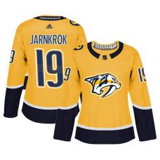 Women's Nashville Predators #19 Calle Jarnkrok Gold Adizero Player Home Jersey