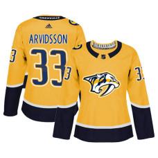 Women's Nashville Predators #33 Viktor Arvidsson Gold Adizero Player Home Jersey