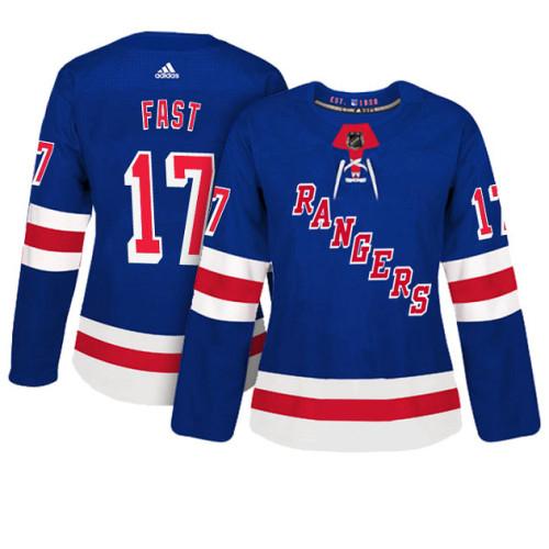 Women's New York Rangers #17 Jesper Fast Royal Adizero Player Home Jersey