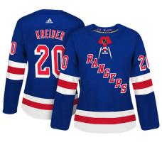 Women's New York Rangers #20 Chris Kreider Royal Adizero Player Home Jersey