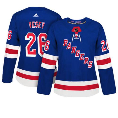 online store 266ae 4a8a2 Women's New York Rangers #26 Jimmy Vesey Royal Adizero ...