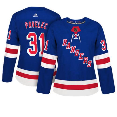 Women's New York Rangers #31 Ondrej Pavelec Royal Adizero Player Home Jersey