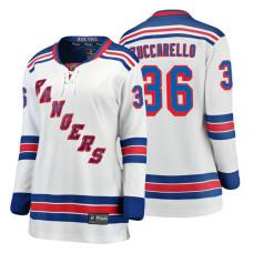 Women's New York Rangers #36 Mats Zuccarello Fanatics Branded Breakaway White Away jersey