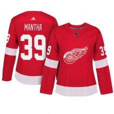 Women's Detroit Red Wings #39 Anthony Mantha Red Adizero Player Home Jersey