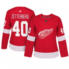 Women's Detroit Red Wings #40 Henrik Zetterberg Red Adizero Player Home Jersey