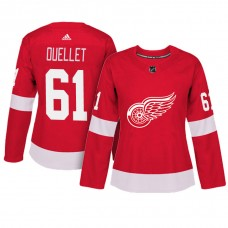 Women's Detroit Red Wings #61 Xavier Ouellet Red Adizero Player Home Jersey