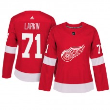Women's Detroit Red Wings #71 Dylan Larkin Red Adizero Player Home Jersey