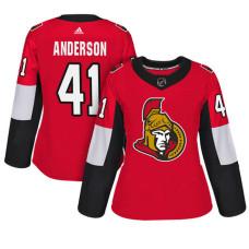 Women's Ottawa Senators #41 Craig Anderson Red Adizero Player Home Jersey