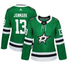 Women's Dallas Stars #13 Mattias Janmark Green Adizero Player Home Jersey